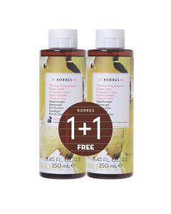 Korres Showergel Ginger Lime 250 ml 1+1 Free