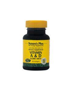 Nature's Plus Vitamins A & D3 10000IU/400 IU  90 softgels