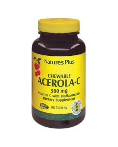 Nature's Plus Chewable Acerola-C Complex  500 mg w/bioflavonoids 90 chewable tabs