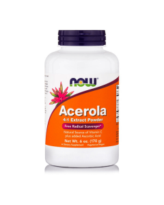 Now Acerola Pure Powder Vegeterian 170 gr