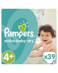 Pampers Active Baby Dry Maxi no4+ (9-16 kg) 39 nappies