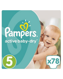 Pampers Active Baby Dry Junior no5 (11-18 kg) 78 nappies
