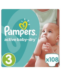 Pampers Active Baby Dry Midi no3 (5-9 kg) 108 nappies