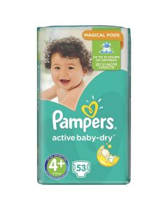 Pampers Active Baby Dry Maxi no4+ (9-16 kg) 53 nappies