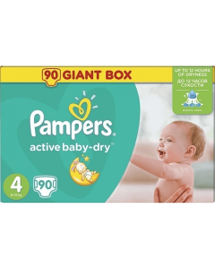 Pampers Active Baby Dry Maxi no4 (8-14 kg) 90 nappies