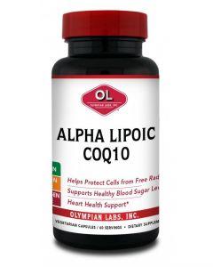Olympian Labs Alpha Lipoic CoQ10 100 mg/100 mg 60 vcaps