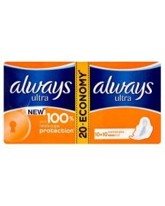 Always Ultra Normal Plus Pads with wings 20 pcs