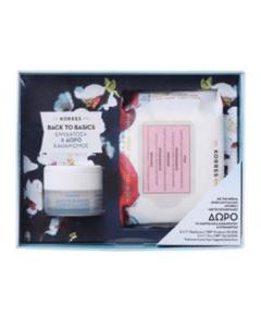 Korres Back to Basics Άνθη Αμυγδαλιάς Κρέμα λιπαρές-μικτές 40 ml & Δώρο Μαντηλάκια Καθαρισμού Ρόδι 25 τμχ