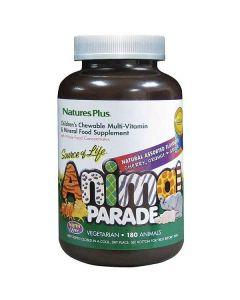 Nature's Plus Animal Parade Assorted Cherry Orange Grape Flavor 180 animals