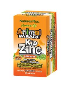 Nature's Plus Animal Parade KidZinc Lozenges 90 animals tangerine flavour