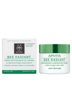 Apivita Bee RadiantAge Defense Illuminating Cream Rich Texture 50 ml