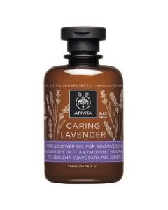 Apivita Caring Lavender gentle shower gel sensitive skin 300 ml