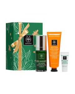 Apivita Radiance Set Bee Radiant Serum 30 ml & Face mask Orange 50 ml