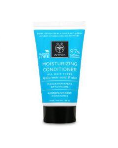 Apivita Hair Care Moisturizing Conditioner hyaluronic acid & aloe Travel size 50 ml