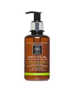 Apivita Purifying Gel oily-combination skin propolis & lime 200 ml