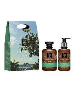 Apivita Refreshing Fig Shower gel 300 ml & Body milk 200 ml