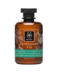 Apivita Refreshing Fig Shower gel with essential oils 300 ml