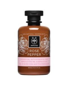 Apivita Rose Pepper Shower gel with essential oils 300 ml