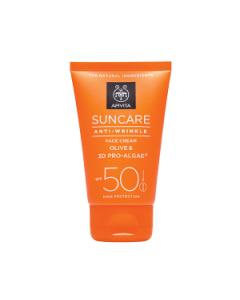 Apivita Suncare Anti-Wrinkle Face Cream olive & 3D pro-algae SPF50 50 ml