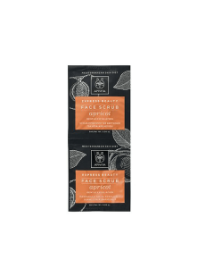Apivita Express Beauty Face scrub Apricot Gentle exfoliating 2 x 8 ml