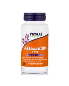 Now Astaxanthin 4 mg 60 veggie softgels