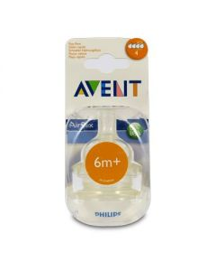 Avent Airflex Fast flow Θηλή σιλικόνης 4 οπές 6+ 2 τμχ