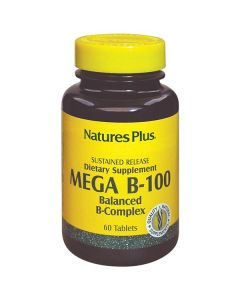 Nature's Plus Mega B-100 Balanced B-Complex 60 tabs