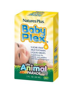 Nature's Plus Animal Parade Baby Plex sugar-free Multivitamin liquid 59 ml orange flavor