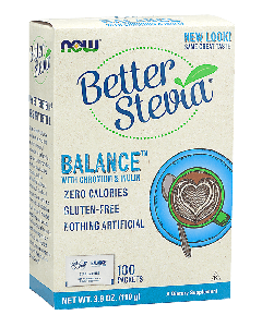 Now Better Stevia Balance Packets w/Chromium & Inulin 100 sachets