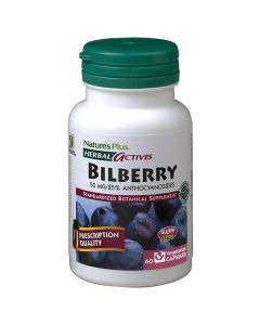Nature's Plus Bilberry 50 mg 60 veg.caps