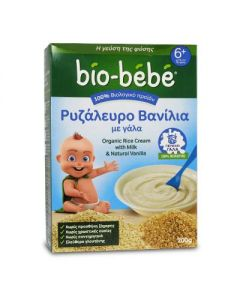 Bio Bebe Organic Rice cream with Milk Vanilla 200 gr
