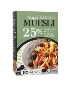 BioFresko Fruits muesli 25% 350 gr
