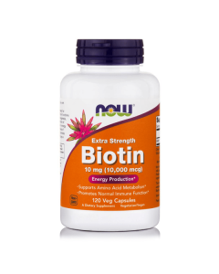 Now Biotin 10 mg (10000 mcg) Extra Strength 120 Vcaps