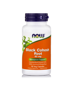 Now Black Cohosh Root 80 mg w/Licorise Root  Dong Quai 90 caps