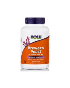 Now Brewer's Yeast 650 mg 10 Grain 200 veg. tabs