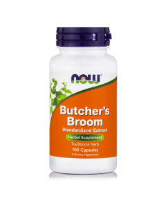 Now Butcher's Broom 500 mg 100 caps