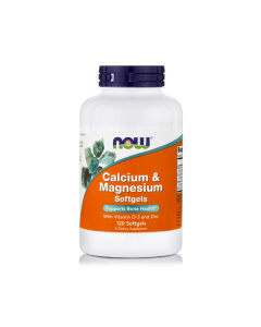 Now Calcium & Magnesium Vitamin D Zinc 120 softgels