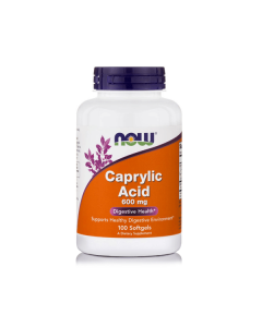 Now Caprylic Acid 600 mg 100 softgels