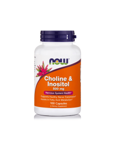 Now Choline & Inositol 250/250 mg 100 caps