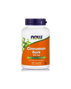 Now Cinnamon Bark 600 mg 120 caps