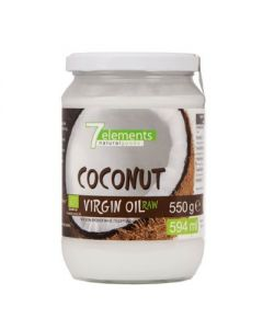 7elements Coconut virgin oil raw organic 550 gr