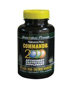 Nature's Plus Commando 2000 Antioxidant Protection 60 tabs