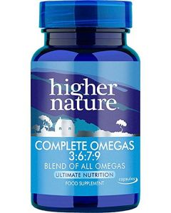 Higher Nature Complete Omegas 3:6:7:9 Blend of all Omegas 90 caps