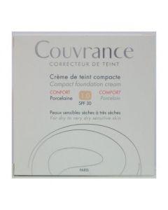 Avene Couvrance Creme de teint Compact Confort SPF 30 1.0 Porcelaine 10 gr