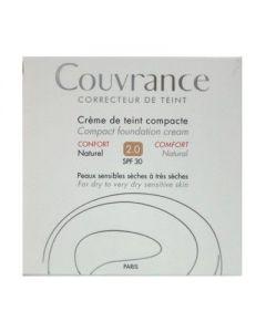 Avene Couvrance Creme de teint Compact Confort SPF 30 2.0 Naturel 10 gr
