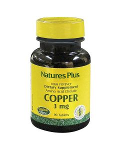 Nature's Plus Copper 3 mg amino acid chelate 90 tabs