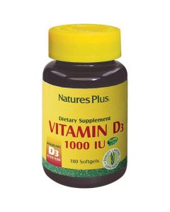 Nature's Plus Vitamin D3 1000 IU 180 softgels