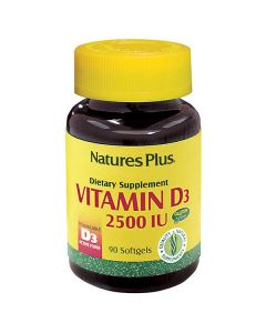 Nature's Plus Vitamin D3 2500 IU 90 softgels
