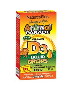Nature's Plus Animal Parade Vitamin D3 200 IU Liquid drops 10 ml