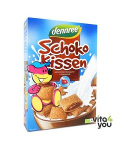 Dennree μαξιλαράκια δημητριακών με γέμιση σοκολάτα 375 gr